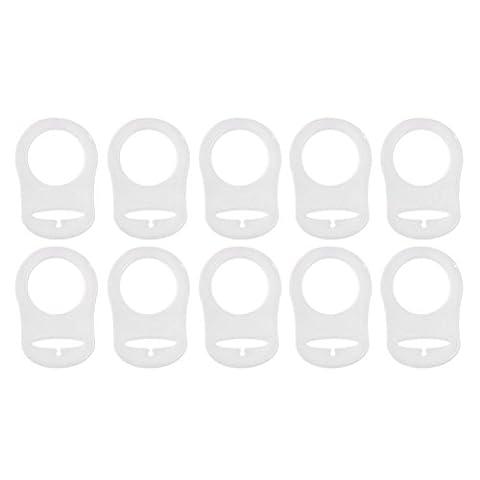 PIXNOR 10pcs Silicone Annueau de Sucette Tétine (Transparent)