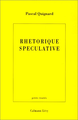 Rhtorique spculative