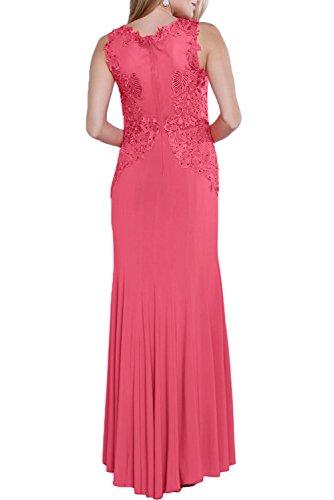 Missdressy Damen Modern Träger Etui V-Ausschnitte Lang Abendkleider Brautmutterkleider Ballkleider Orange