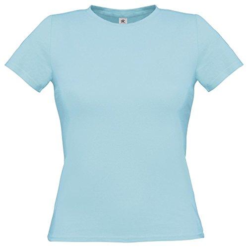 Flirty Wardrobe B & C uniquement Drap en coton T-shirt pour femme Bleu - Torqouise