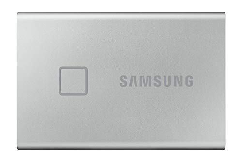 Samsung T7 Touch Portable SSD - 1 TB - USB 3.2 Gen.2 External SSD Metallic Silver (MU-PC1T0S/WW)