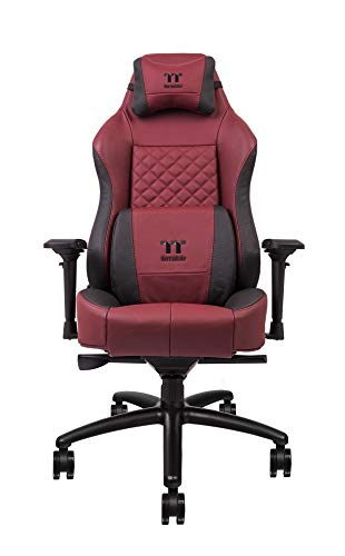 Thermaltake X Comfort Real Leather Gaming Chair Burgundy Red
