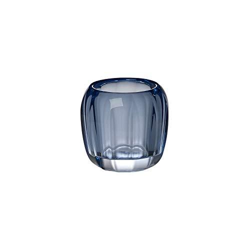 ured DeLight Kleiner Teelichthalter Winter Sky, 7 cm, Kristallglas, Blau ()