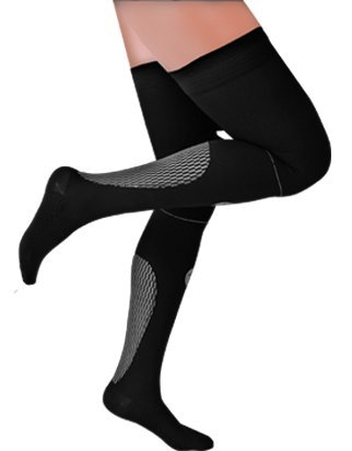 Medilast D520NB - Pernera de atletismo unisex, color negro / blanco, talla XL