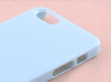 fancyg Premium Qualität Einfarbig, Verzierung Boden Sky Blau Back Cover Case 4-Teilig Set für iPhone 5S iPhone 54G Ideal für Schutz und DIY Eigenen Design Blau Back Case