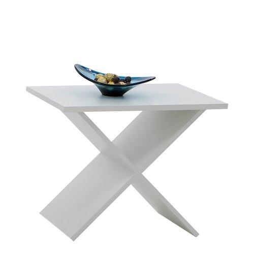 FMD Möbel Phil 628-001 - Tavolino d'appoggio 54,5 x 43 x 38,5 cm, colore: Bianco