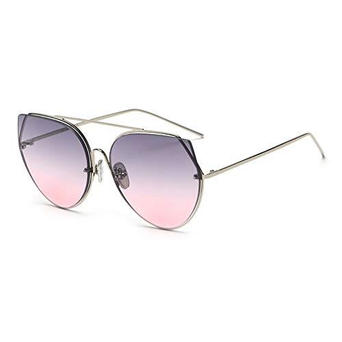 Sonnenbrille,Neue Frauen Cat Eye Sonnenbrille Design Sexy Aus Magnesiumlegierung Gradient Objektiv Sommer Style Sonnenbrille Farben Silber Blau Pink