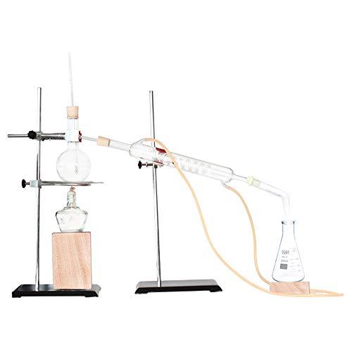 Labor Magnetrührer Glasdestillation Set Ätherisches Öl Destillation Reines Tau Reinigung Elektrischen Ofen Chemische Glas Laborgeräte Lehrinstrument (Color : A)