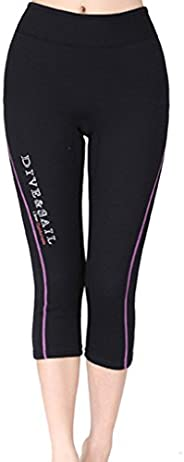 DIVE & SAIL Women's Wetsuits Capri Pants Premium Neoprene Diving Snorkeling Scuba Surf Cano