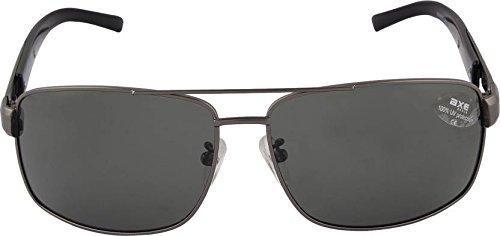 Axe Style XSG503 HIGH Quality polarised aviator sunglasses (Black) + Stylish Case