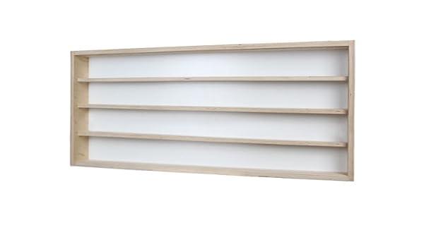 Vitrine murale 140 cm x 39 cm x 8,5 cm  Décoration vitres en plexiglas V140.4A