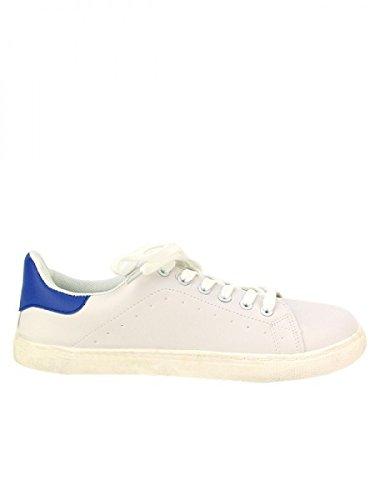 Cendriyon, Basket White ADINIS Mode Chaussures Femme Blanc