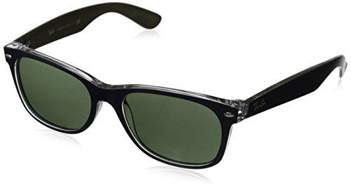 Ray-Ban Unisex Sonnenbrille New Wayfarer Blue, Large (Herstellergröße: 55)
