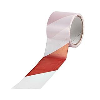 100 m Absperrband Kennband rot-weiß Warnband