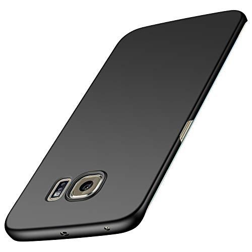 anccer Samsung Galaxy S6 Edge Hülle, [Serie Matte] Elastische Schockabsorption & Ultra Thin Design für Samsung Galaxy S6 Edge (Glattes Schwarzes)