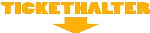 Tickethalter Sticker Strafzettel Auto Aufkleber JDM (Orange)