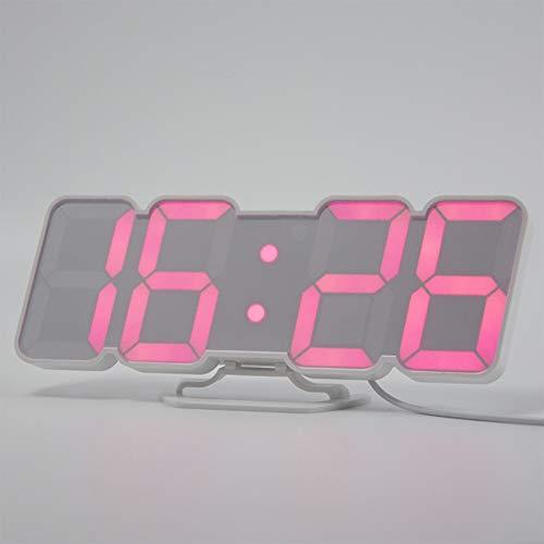 DDGOD LED Digital Wand Wecker,Remote Control Jumbo Display 3D LED Wecker  Schreibtisch Clockbedside Schlafzimmer Uhren Kalender Temperatur-Wei?