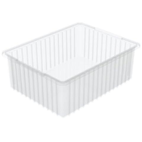 Akro-mils 3322822–3/8-inchl par 17–3/20,3cm L 20,3cm de H Akro-grid fente intercalaire Plastique Tote Box, Effacer, 3-pack, 33228SCLAR