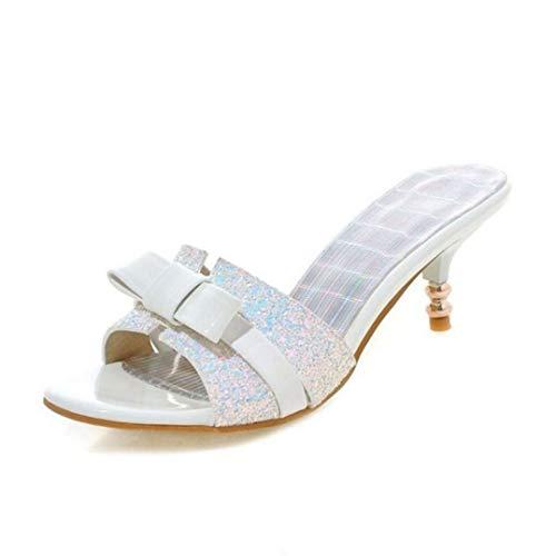 Frauen-dünne Fersen-Sandelholze Sommer-geöffnete Zehe Butterfly-Knot Kleid-tägliche im Freienschuh-Damen-Absatz-Beleg-auf Hefterzufuhr Knot Wedge Sandal