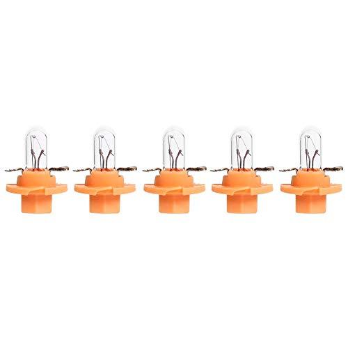 Seawang, lampadine alogene per cruscotto auto, T5 B8.4D, 5 pezzi, per luci interne cruscotto