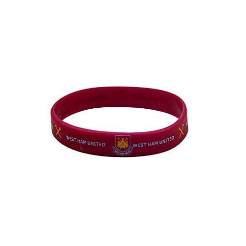 Offizielle Fußballverein aus Gummi mit Wappen Single Armbänder (verschiedene Mannschaften zur Auswahl.), Herren, West Ham United FC -