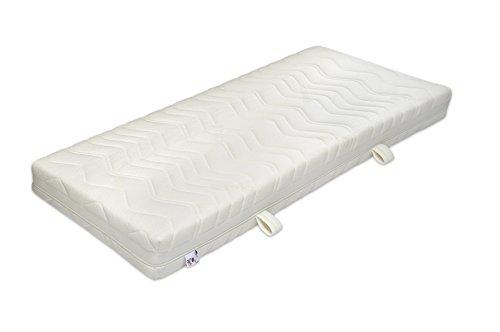 Badenia Bettcomfort 7-Zonen Tonnentaschenfderkernmatratze, Jubiläumsmodell 70 Jahre, Härtegrad 2, 90 x 200 cm, weiß
