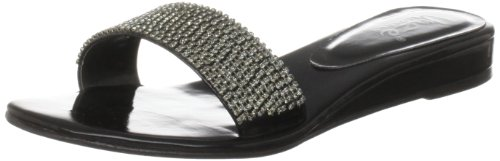 Unze Evening Sandals, Sandali donna Nero (Schwarz (L18397W))