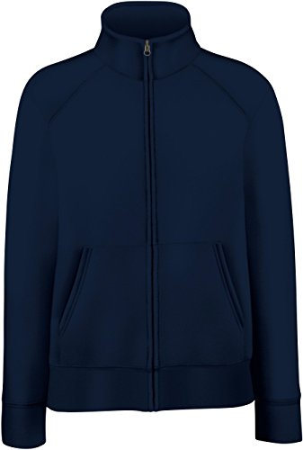 Lady-Fit Sweatjacke L / 14,Deep Navy (Baumwoll-jersey-jacke)