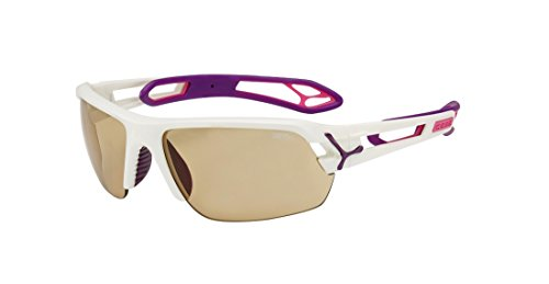 Cébé S'Track Herren-Sonnenbrille Medium bunt - White Purple Vario Perfo + 1000 Clear