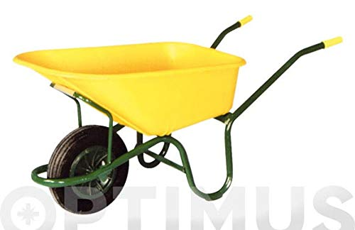 Theca M95327 - Carretilla de obra nylon amarilla c1/570