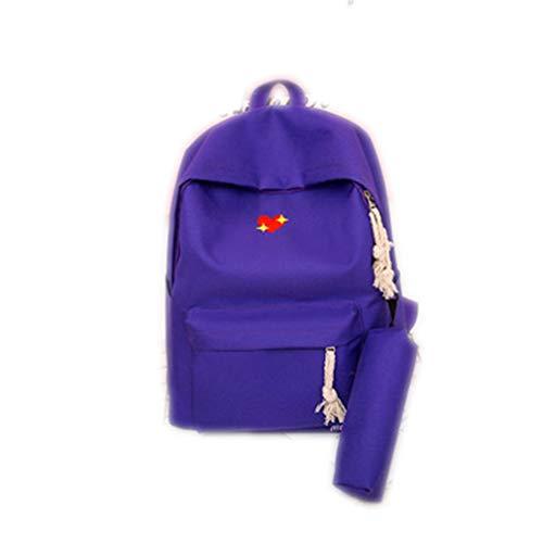 2 Satz Frauen Rucksack Für Schule Teenager Mädchen Druck Rucksack Weiblichen Schulter Schultasche Sac Ein DOS Mochila Feminina Blue 37x29x13cm -