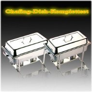 APS Set Chafing Dish Multi mit 4 GN Behälter T 100 mm Aluminium-chafing Dishes