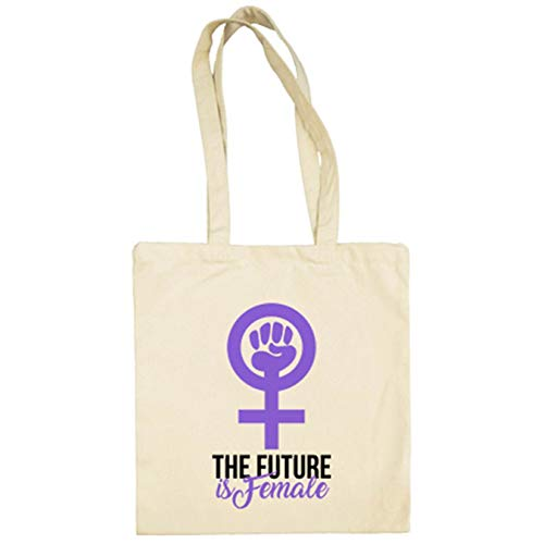 Diver Bebé Bolsa de tela The Future Is Female futuro feminista - Beige, 38 x 42 cm