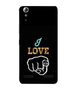 PrintVisa Designer Back Case Cover for Lenovo A6000 Plus :: Lenovo A6000+ :: Lenovo A6000 (I Love You Pointing Design)