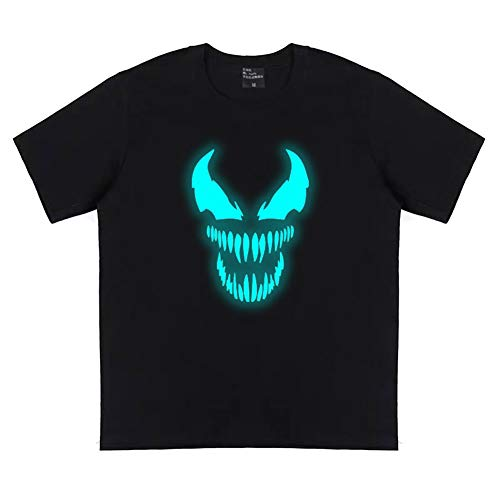 Buberryi Wunder Venom T-Shirt,100% Baumwolle 3D Leuchtend Super Elastisch Atmungsaktiv Sommer Kurze Ärmel,Geeignet Kind/Frau/Männer,S