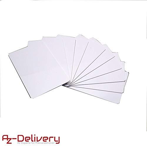 AZDelivery ⭐⭐⭐⭐⭐ 10 x RFID Keycard Card 13,56MHz Schlüsselkarte Karte MF S50 (13,56 MHz) 1 Proximity Card