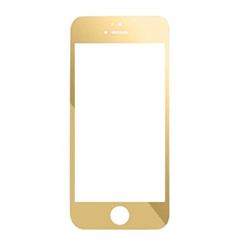 Per iPhone 5 5S 5C,Amlaiworld Colorato placcatura vetro temperato Film Screen Protector per iPhone 5 5S 5C (Oro) - Oro Prova
