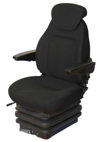 Schleppersitz Traktorsitz Basic Star Stoff schwarz