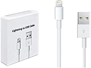 IMMACULATE Appleusb-1 Fast Data Sync & Charging Cable Lightning to USB for Apple Devices (White), IMMiphCable