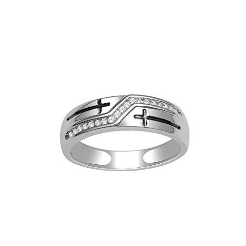 Rings-MidwestJewellery.com Herren -  10 K  Weißgold     Diamant