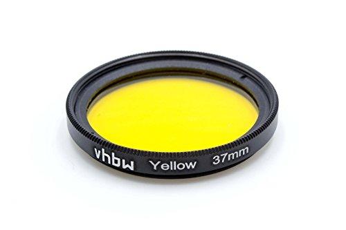 vhbw Universal Farbfilter 37mm gelb für Kamera Objektiv Canon, Casio, Pentax, Olympus, Panasonic, Sony, Nikon, Fuji/Fujifilm