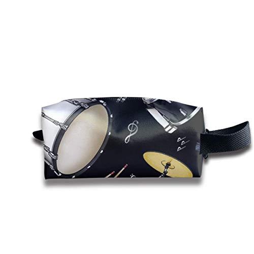 Casual Schminktasche Reisetasche Professionelle Lagerung, Rock Drum Stand Mehrzweck Kosmetische Zug Fall Tasche Tragbare Künstler für Frauen Mädchen, Große Kapazität Kugelschreiber Fall -