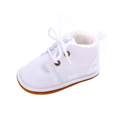 eborene Winter warm Schnee Stiefel Gummisohle Prewalker Kind-Schuh (0-6 Monate, Weiß) ()