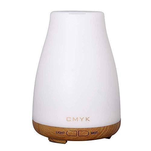 CMYK® Aroma Diffuser Ultraschall Nebel Luftbefeuchter Raumbefeuchter Kalten Nebel Technologie keines Wasser Abschaltautomatik mit LED Farbwechsel ohne Lärm für Yoga Kinderzimmer Schlafzimmer Büro usw - Kein Wasser