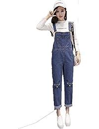 741ab52e31f Lannister Salopette Femme Vintage Mode Loisir Elégante Réglable Jeans  Jumpsuit Bretelles Vêtements de fête Baggy Chat Impression avec…