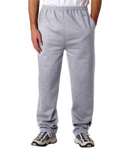 Champion P800 Adult Double Dry Eco Open-Bottom Fleece Pants with Pockets - Light Steel, Small