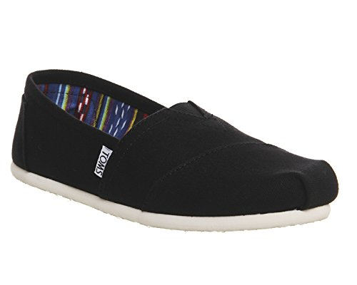 Toms Classic Slip On Black Canvas - 6 UK
