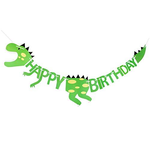 Xdffy Dinosaurier Happy Birthday Banner Partyzubehör Dekoration, Kinder Geburtstag Party Dino ()