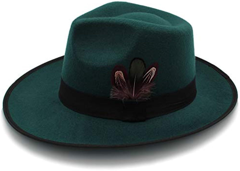 YQXR Moda Cupola cappellini Cappellino da baseball in lana donna ba3525fc6658