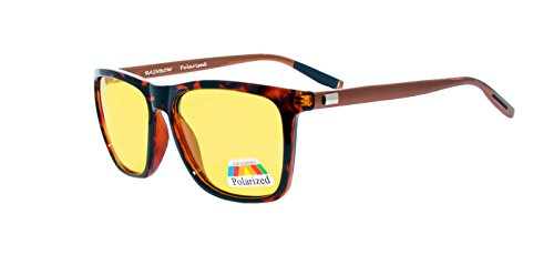 rainbow safety Auto Brille Nachtsichtbrille Nachtfahrbrille Kontrastbrille Polarisierte Gläser RWNP2 (Turtle)